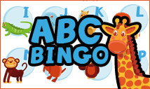 abc color bingo card template with images