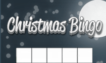 christmas night blank bingo card template -Jolly