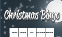 christmas night words bingo card template - Jolly