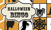 Orange halloween bingo card template -Retro