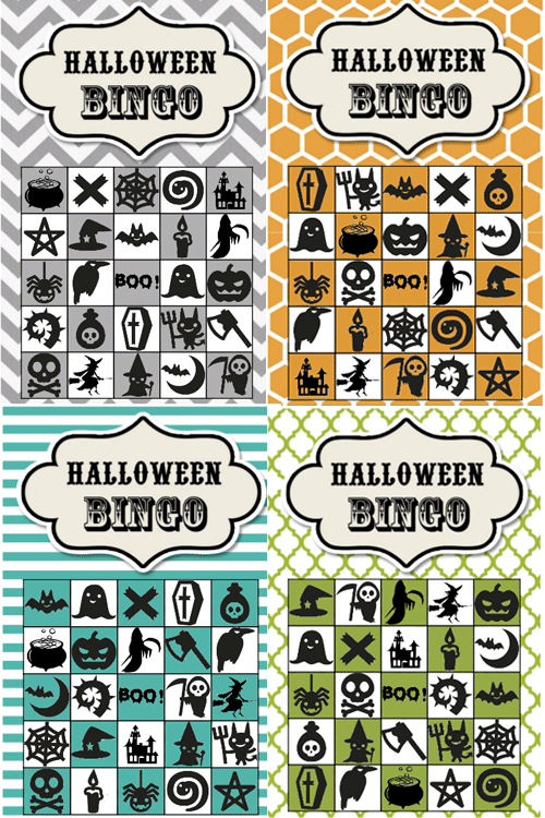 halloween bingo cards and bingo templates